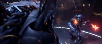 Robot fight in 'Lost in Space'