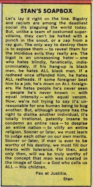 Stan's Soapbox, 1968