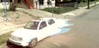 Google Street View melting car San Francisco