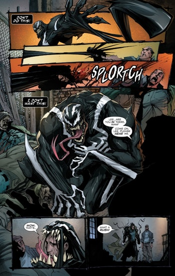Panel from Venom #1 by Marvel Comics