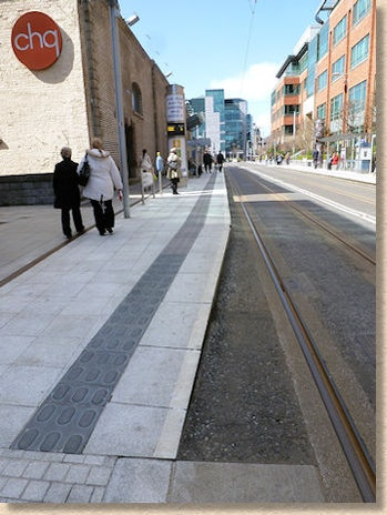 lozenge paving bus stop dublin