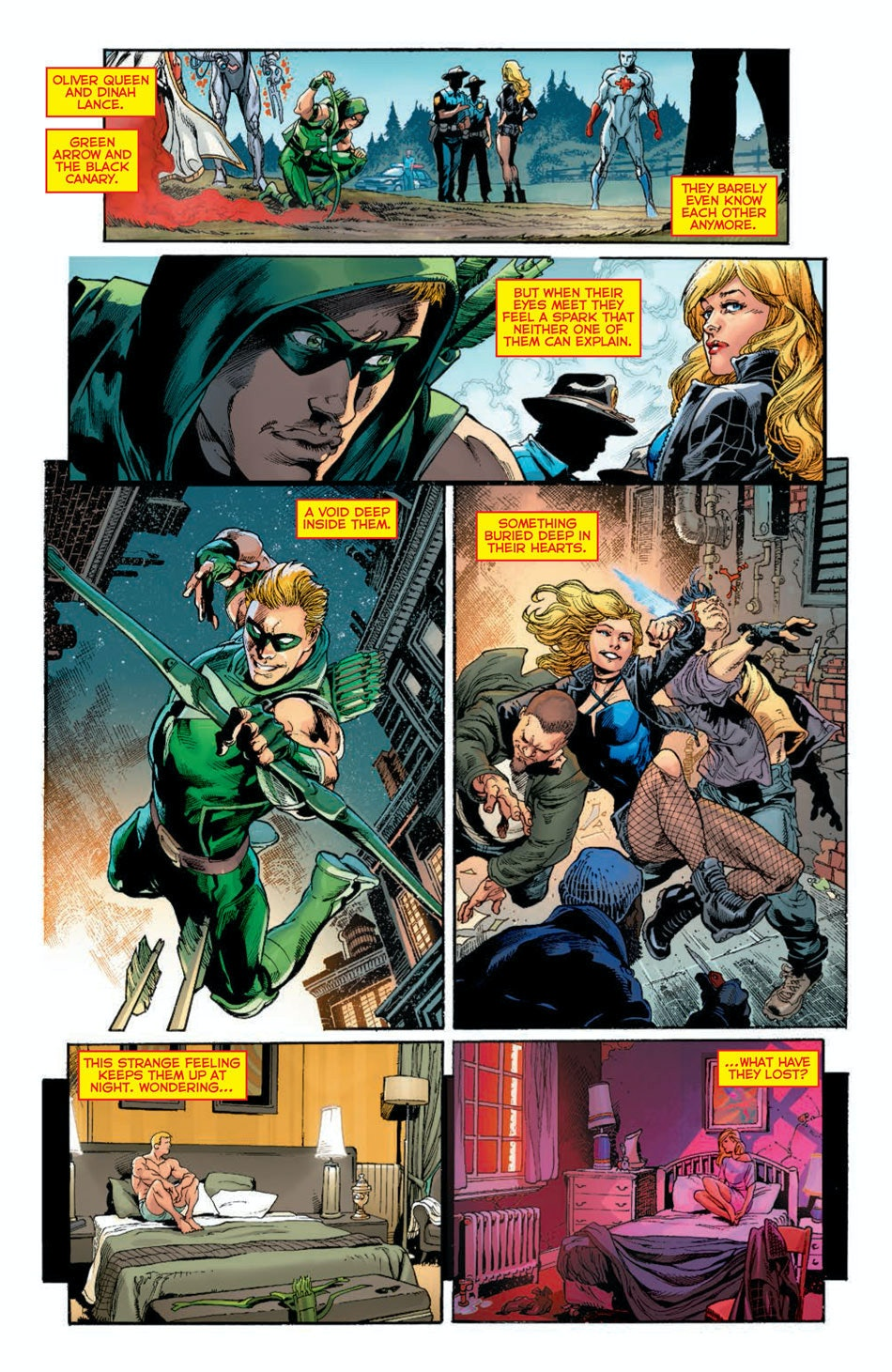 DC Rebirth Black Canary Green Arrow