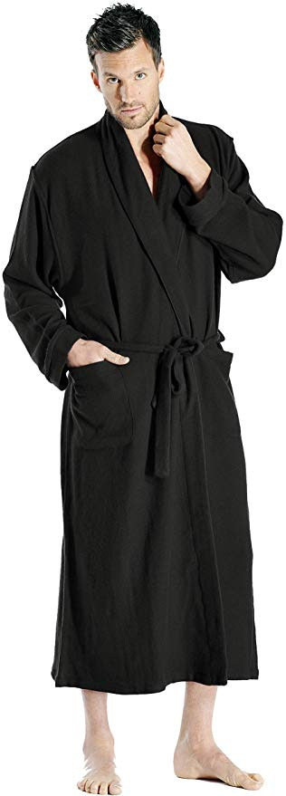 Cashmere Boutique: 100% Pure Cashmere Full Length Robe for Men (6 Colors, 2 Sizes)