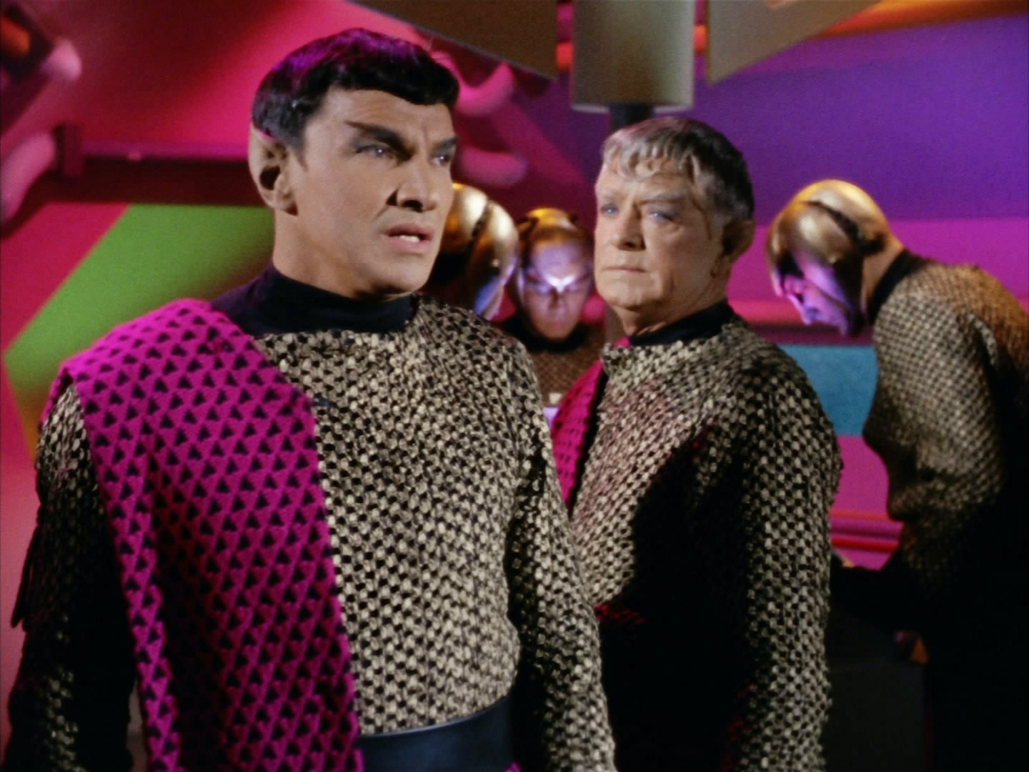 """Romulans as they appear during""""Balance of Terror."""""""
