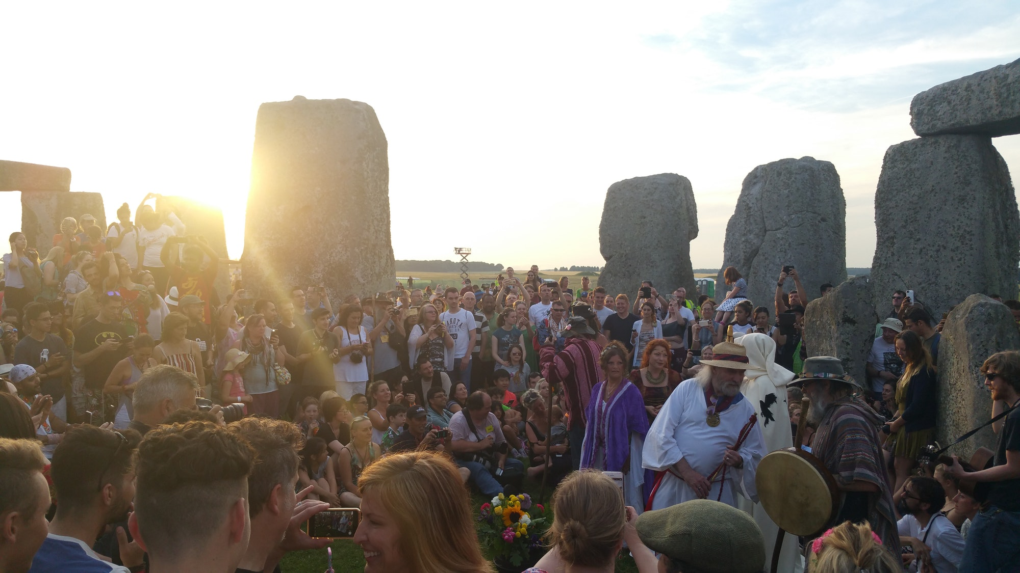 Crowds typically gather at Stonehenge to celebrate the Summer Solstice.
