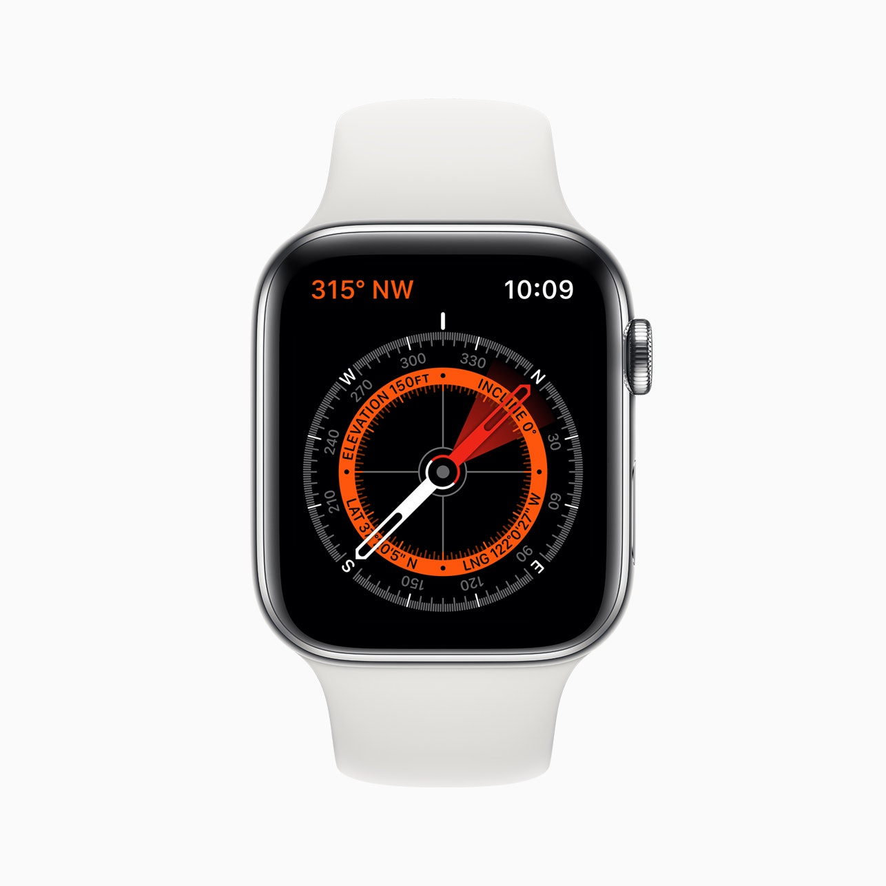 Apple Watch Series 5, now with a compass.