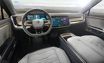 Interior of the Rivian R1S.