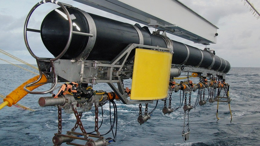 """A source steering system, made by PGS, which is used to mapping the ocean floor. It """"has been in use for over a decade and is regarded as best-in-class,"""" touts the company."""