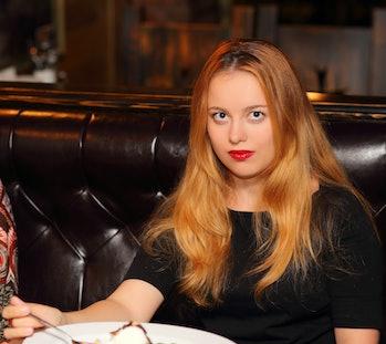 Women woman food restaurant eat eating
