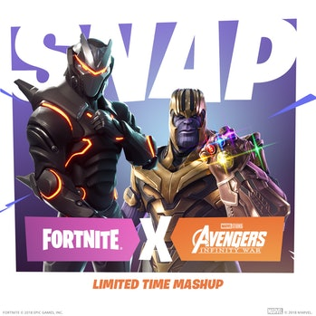 """Why does it say """"Snap"""" if Thanos can't actually snap in 'Fortnite'?"""