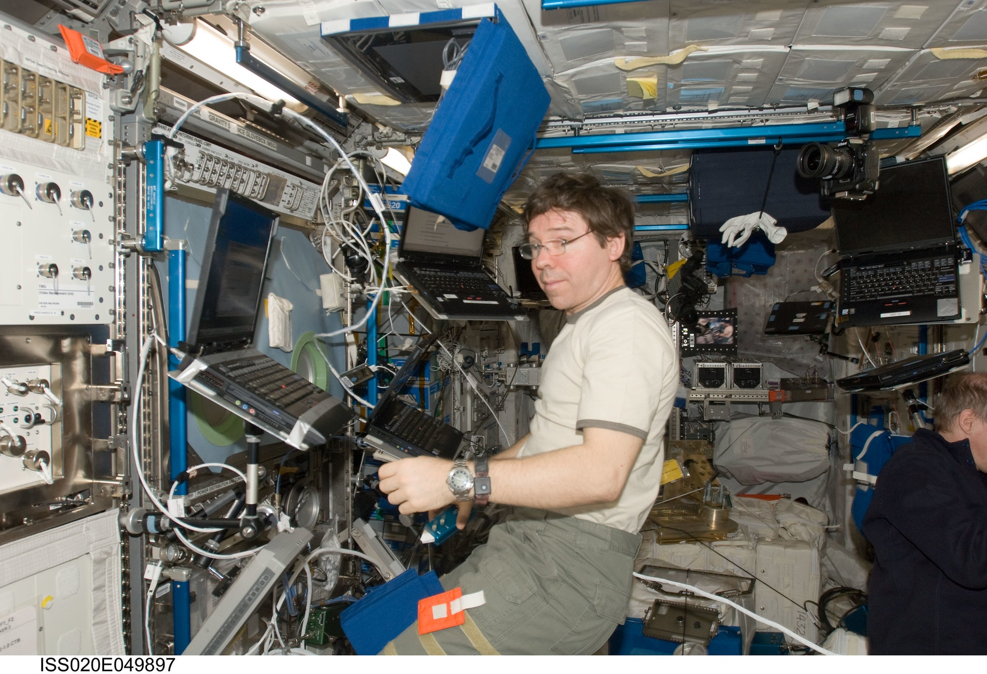Michael Barratt on the ISS