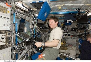 Michael Barratt on the ISS