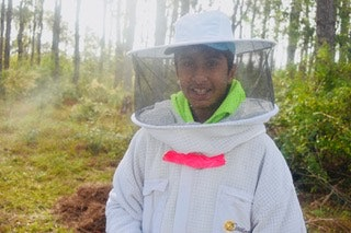 Varun Madan is using bacteria to save the bees.