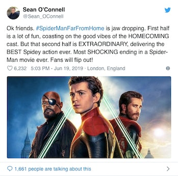sean o'conell spider man far from home