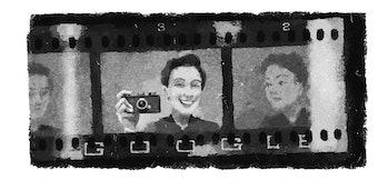 Gerda Taro's Google Doodle for August 1, 2018.