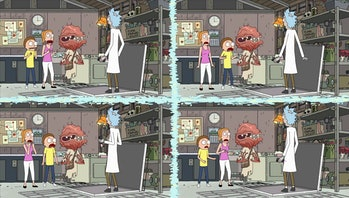 Morty and Summer's uncertainty splinters reality. This is what happens when you mess with time.