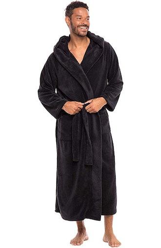 Alexander Del Rossa Men's Plush Fleece Robe