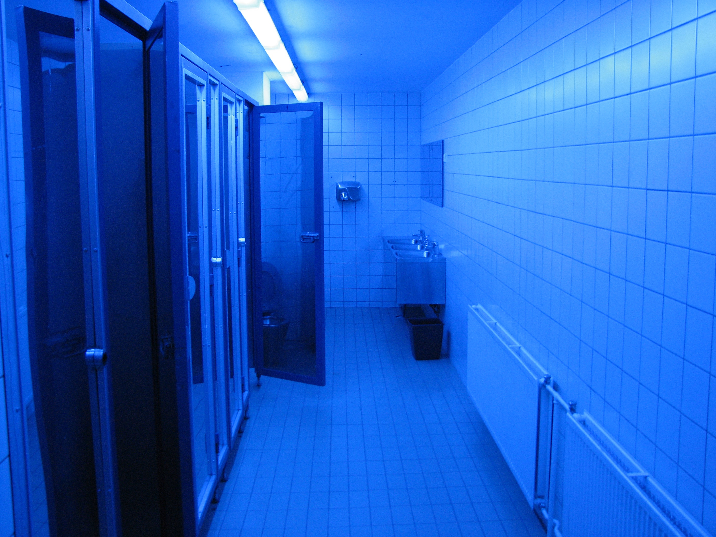 Blue Lights To Deter Users From