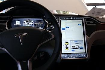 Tesla Model S dashboard.