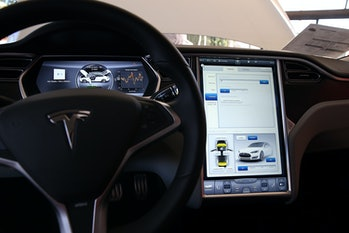 Tesla Model S dashboard.