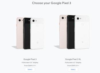 google pixel 3 prices