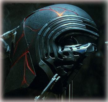 Kylo Ren's helmet in 'Star Wars: The Rise of Skywalker'