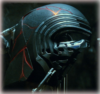 Kylo Ren's helmet in 'Star Wars: The Rise of Skywalker'