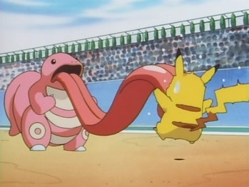 Lickitung and Pikachu