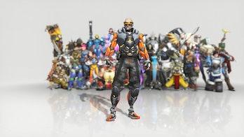 Overwatch Anniversary Event Soldier: 76 skin Cyborg: 76