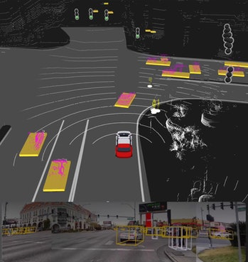 How a Yandex car sees the road.