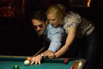 Charlie Cox and Deborah Anne Woll in 'Daredevil'