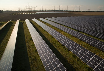 An array of solar panels in Germany.