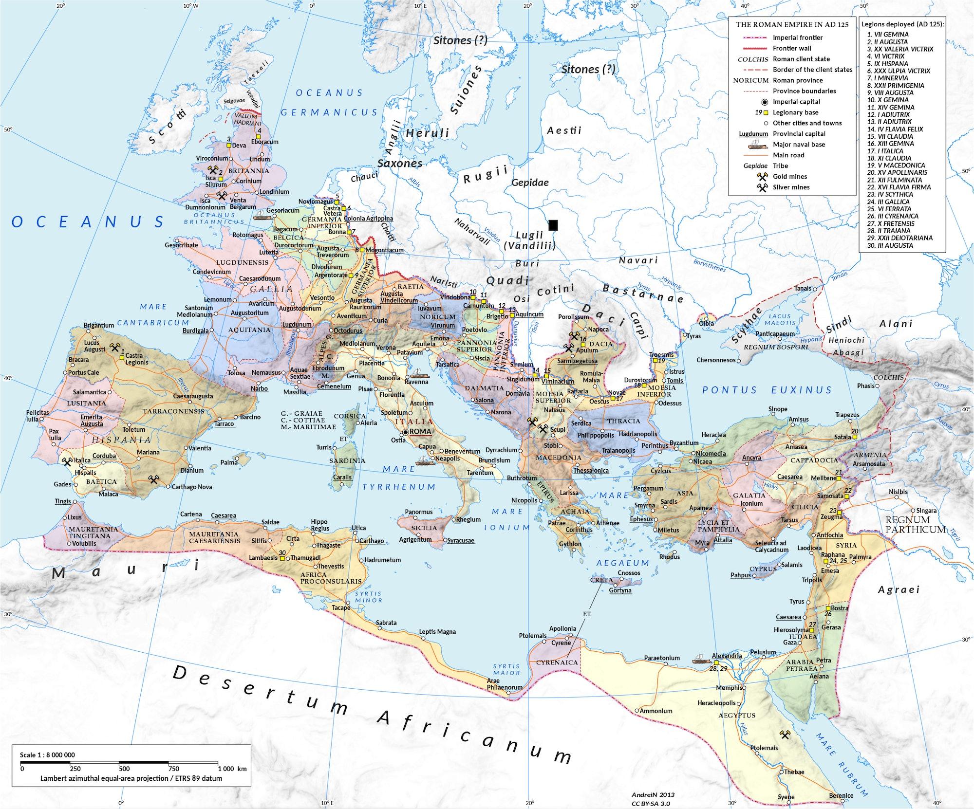 Roman Empire map Europe Africa