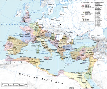Roman Empire map Europe Africa