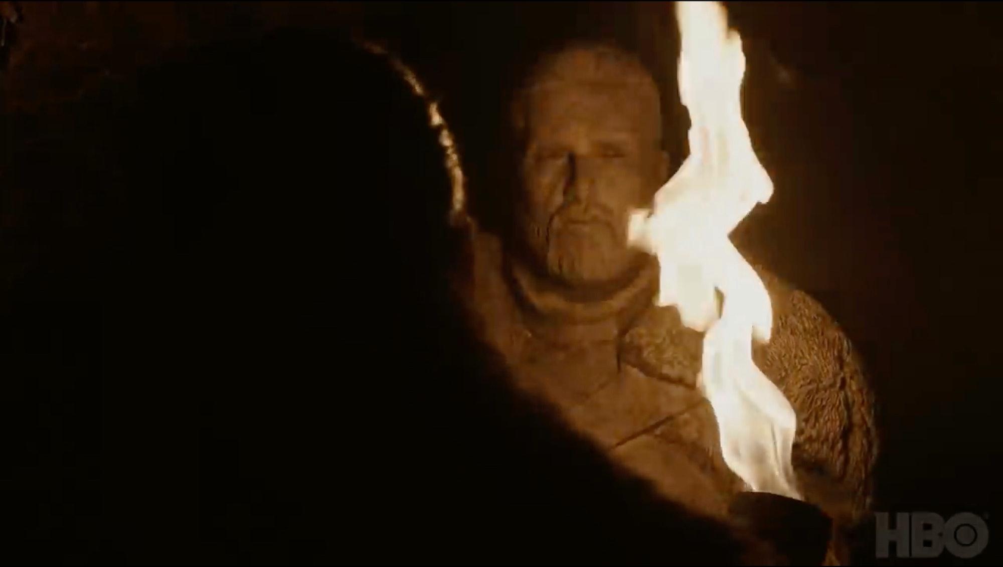 hbo game of thrones season 8 statue teaser jon snow kit harington