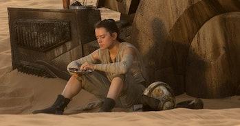 Rey on Jakku in 'The Force Awakens.'