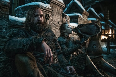 Game of Thrones the Hound and Arya