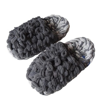 Knit upcycle slippers #7-2019