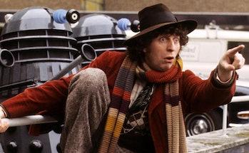Tom Baker as the 4th Doctor