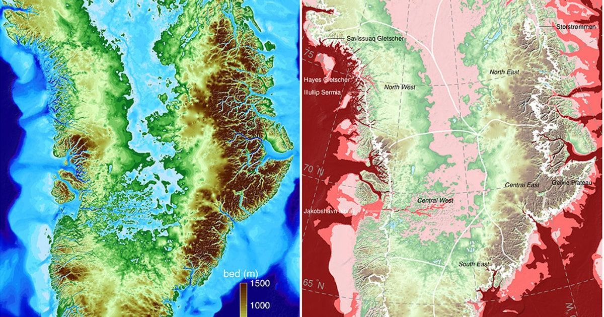 New NASA Maps Have Very Bad News For Greenland's Melting Glaciers