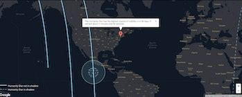 rocket lab humanity star satellite