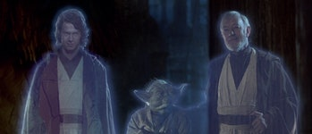 return of the jedi force ghosts
