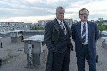 Boris Shcherbina (Stellan Skarsgård) and Valery Legasov (Jared Harris) in 'Chernobyl' on HBO.