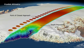 ESA cryosat glacier map tracking climate change