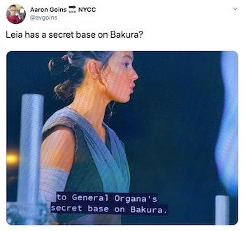 star wars 9 leaks spoilers bakura leia