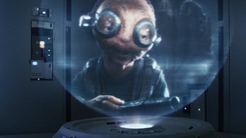 Maz Kanata via hologram message in 'Star Wars: The Last Jedi'