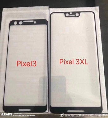 unofficial leaks of the screen protectors for google pixel 3 and 3 XL