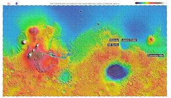 four sites mars landing
