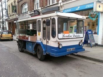 A milk float: not exactly a Tesla Model S.
