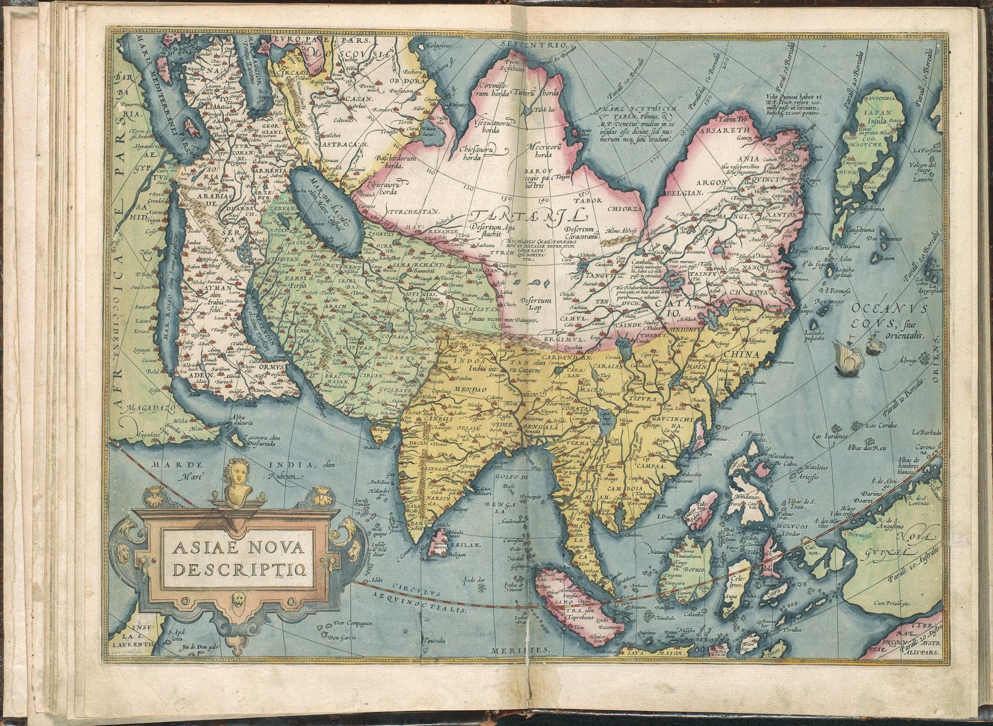 Abraham Ortelius map of Asia